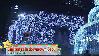 Christmas in downtown Seoul