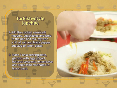 Cooking Possible Turkish-style japchae Recipe Ep.7