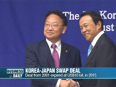 Business Daily _ Korea-Japan swap deal _ Ep366