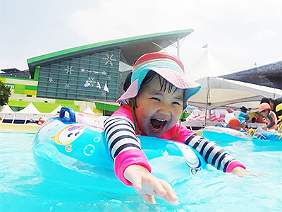 Water playground at Ilsan Lake Park