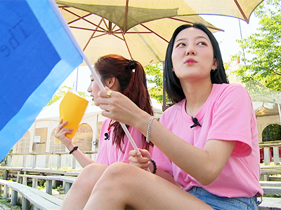 The S.O.S One of the flag is missing in Shilla Millennium Park, Gyeongju