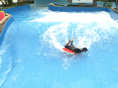 Caribbean Bay's Surfing Ride