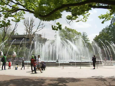 Water fountain at Seoul Children's Grand Park