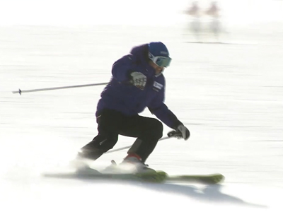 Skiers at Jisan Forest Resort _Incheon