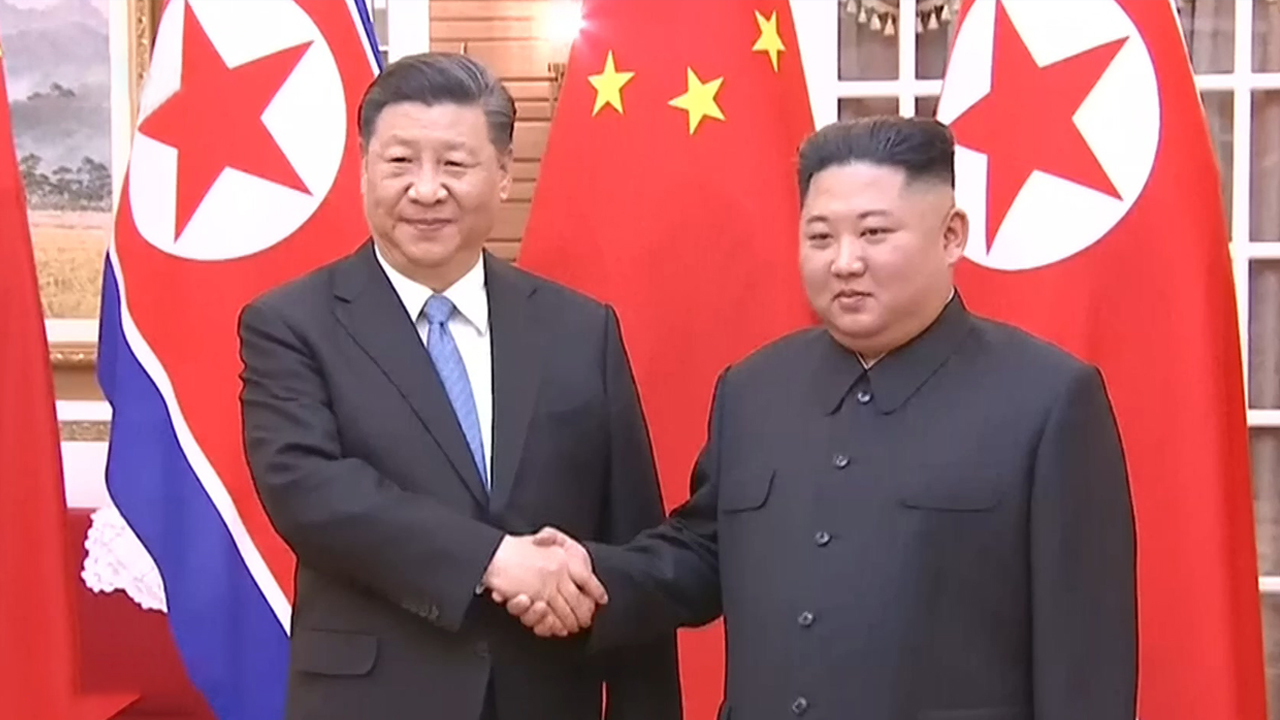 55-3 XI's Visit To N. Korea... First N. Korea-China Summit In Pyeongyang In 1...