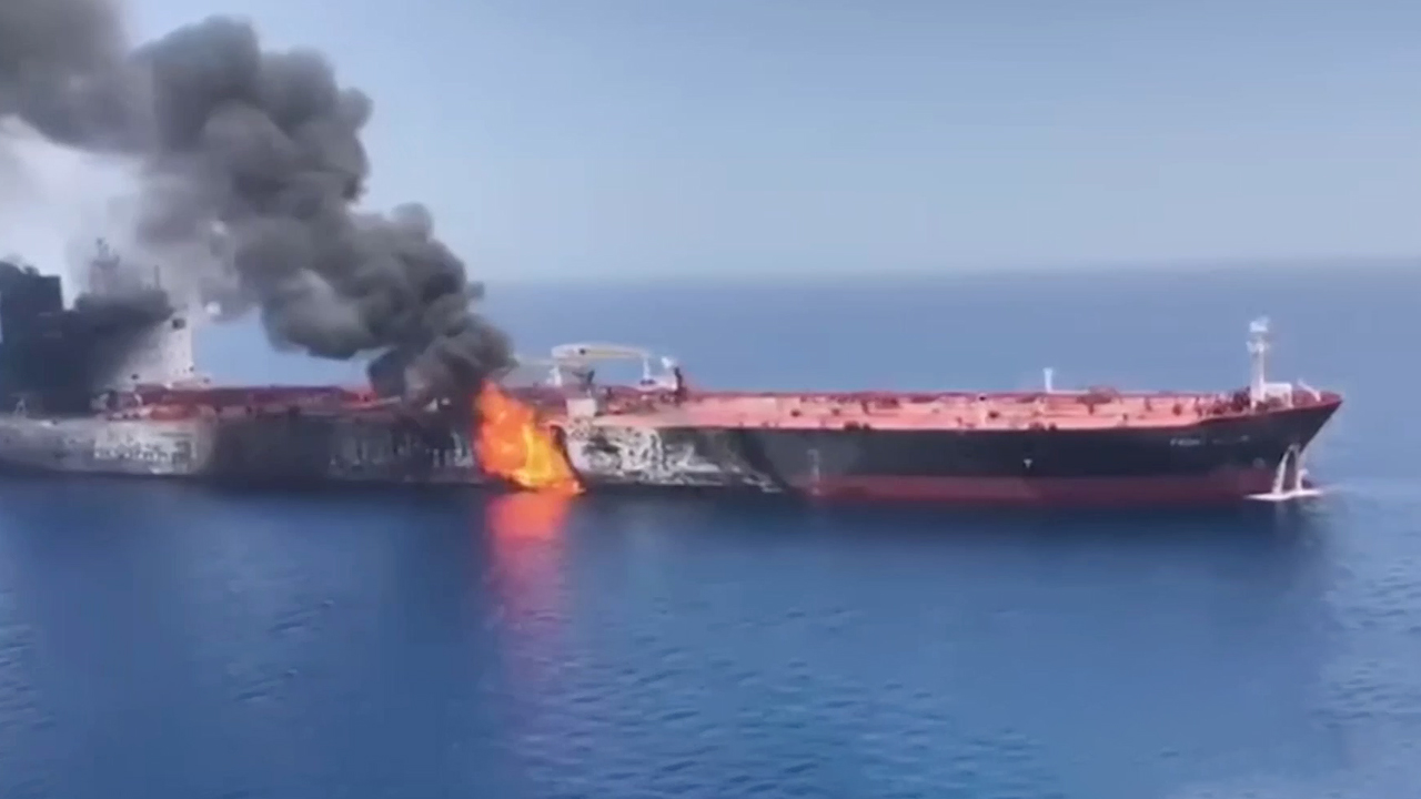 55-2 Tanker Attacks Near The Strait Of Hormuz
