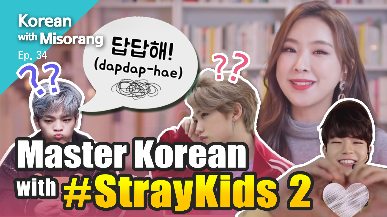 [Korean with Misorang 9]Master Korean with #StrayKids 2🤘