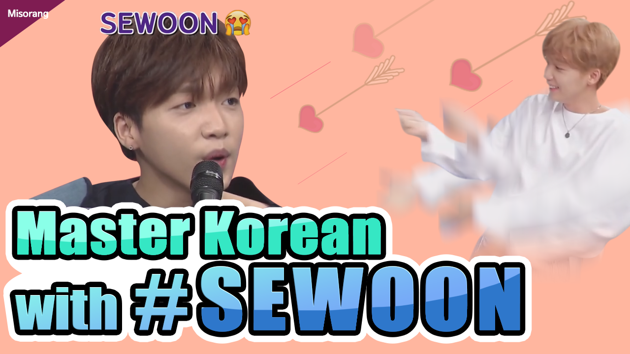 Master Korean with #SEWOON🎤💜 [Korean with Misorang 21]