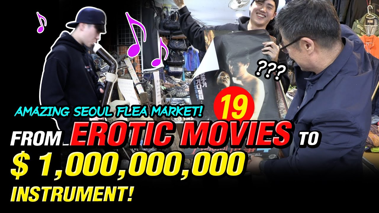 Ep.8 From Erotic Movies to a Billion Dollars Instrument! Amazing Seoul Flea Market!🤩