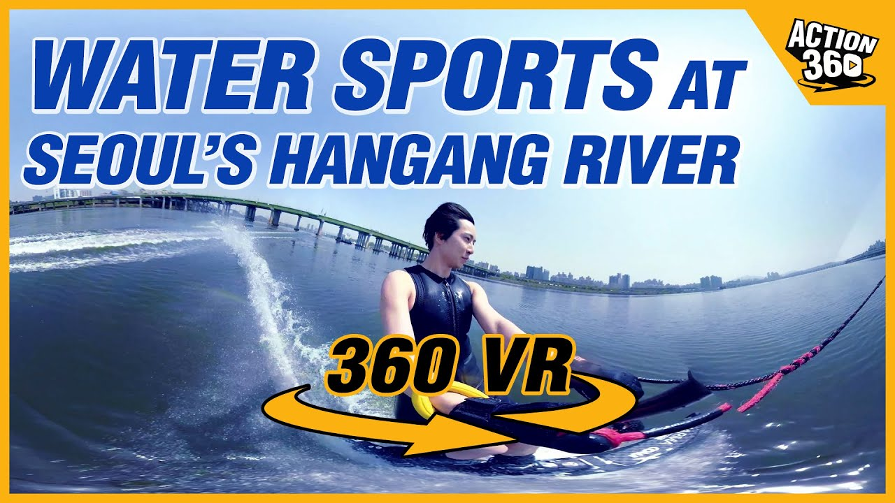 The high speed dash through the heat, water sports at Seoul's Hangang River💦🏄‍♀
