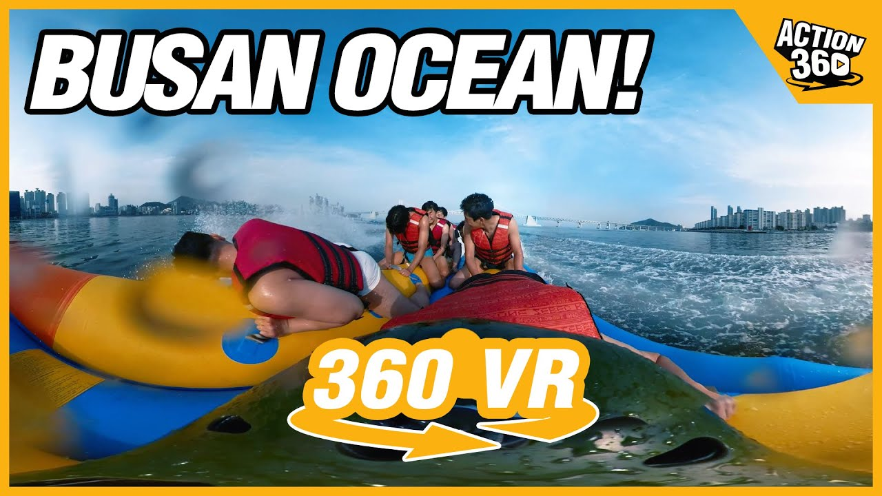 Enjoy water sports fully at the Busan ocean!🏄‍♂