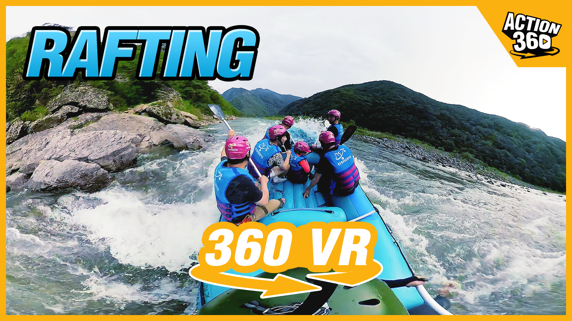 Rafting - The thrilling flow of water! Breathtaking regions! Exhi...