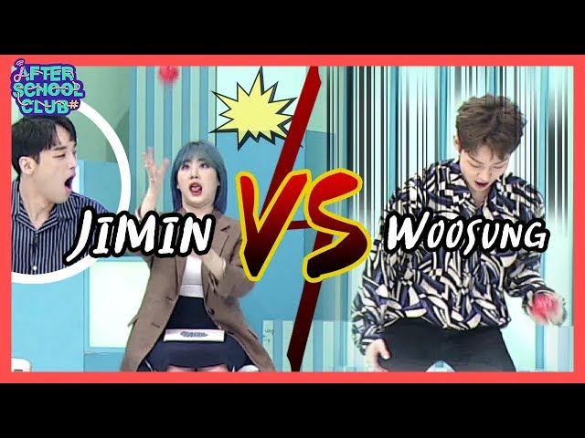 [AFTER SCHOOL CLUB] Jimin & Woosung juggling _ HOT!