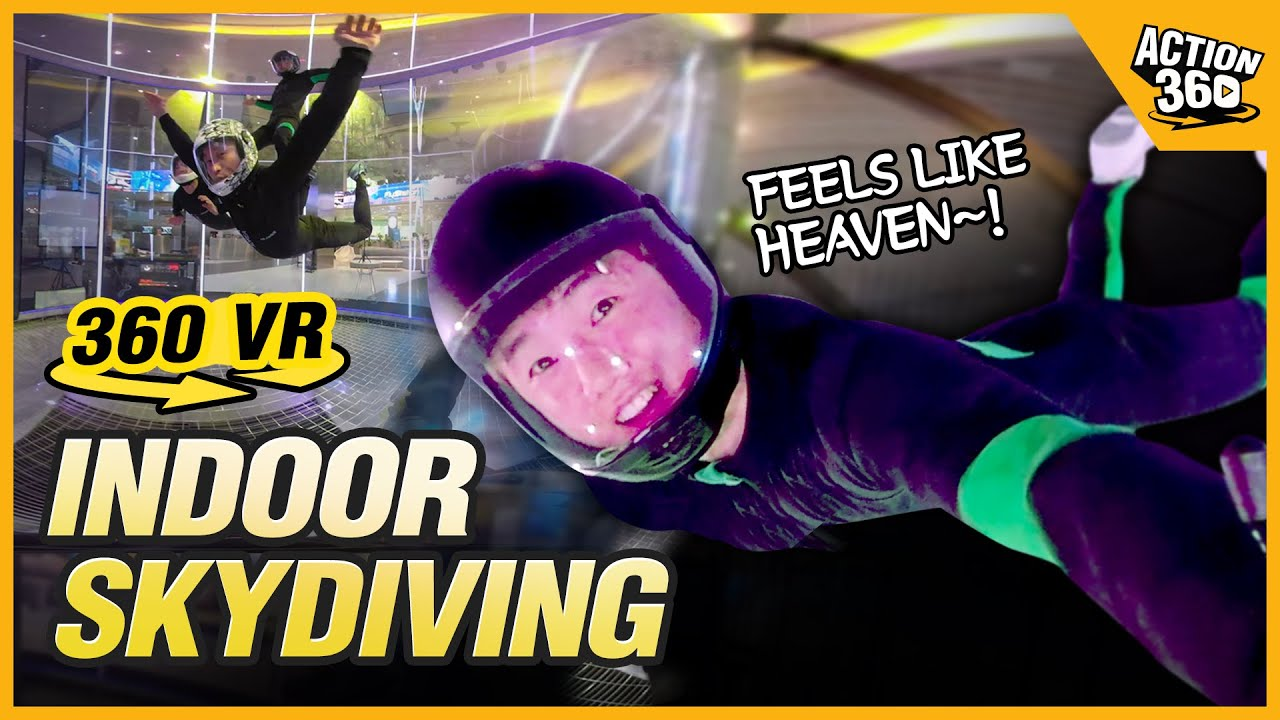 [Action 360] Glide freely like a bird through the wind speed of 360 km/h, Indoor skydiving
