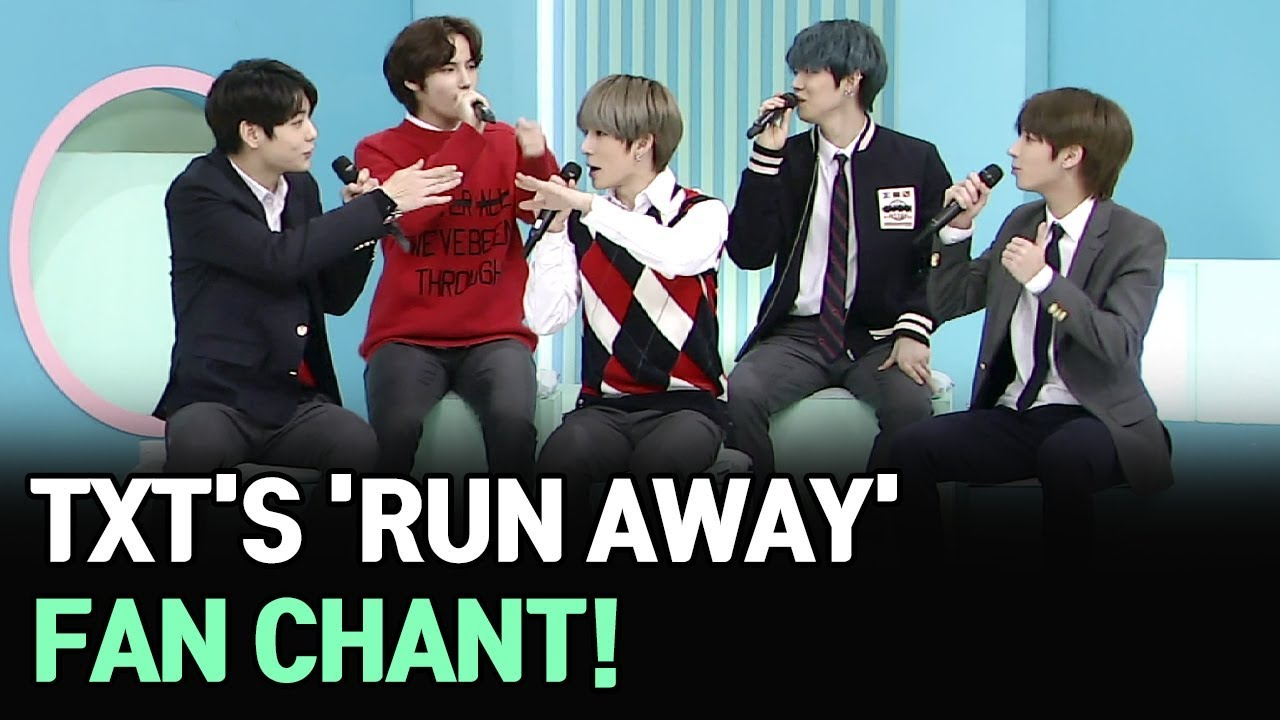 [AFTER SCHOOL CLUB] TXTs Run Away fan chant (투모로우바이투게더의 9와 4분의 3 ...