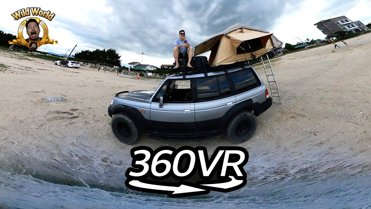 [360º VR] Wild World l Car Camping ~As I Lay on the Ocean