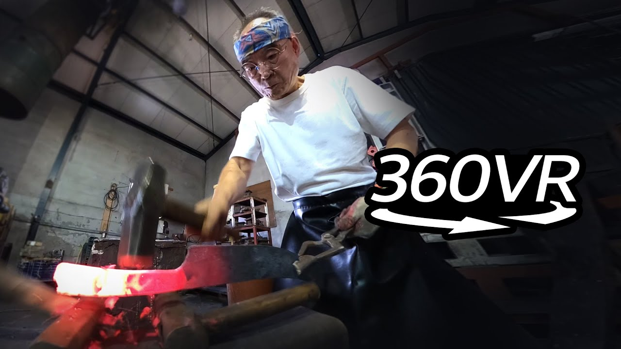 Das Schwert ⚔️ Traditionally Made Swords and Daggers ⚔️ 장인정신으로 만드는 강철의 곡선 [360 VR Cam]