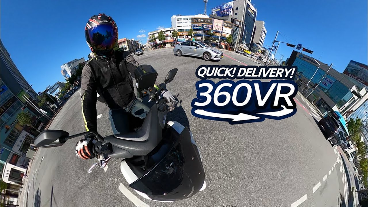 Story Behind Riders in Korean Cities 🛵360º 브이로그 - 드러머의 질주🛵 [360 VLOG - VRog]
