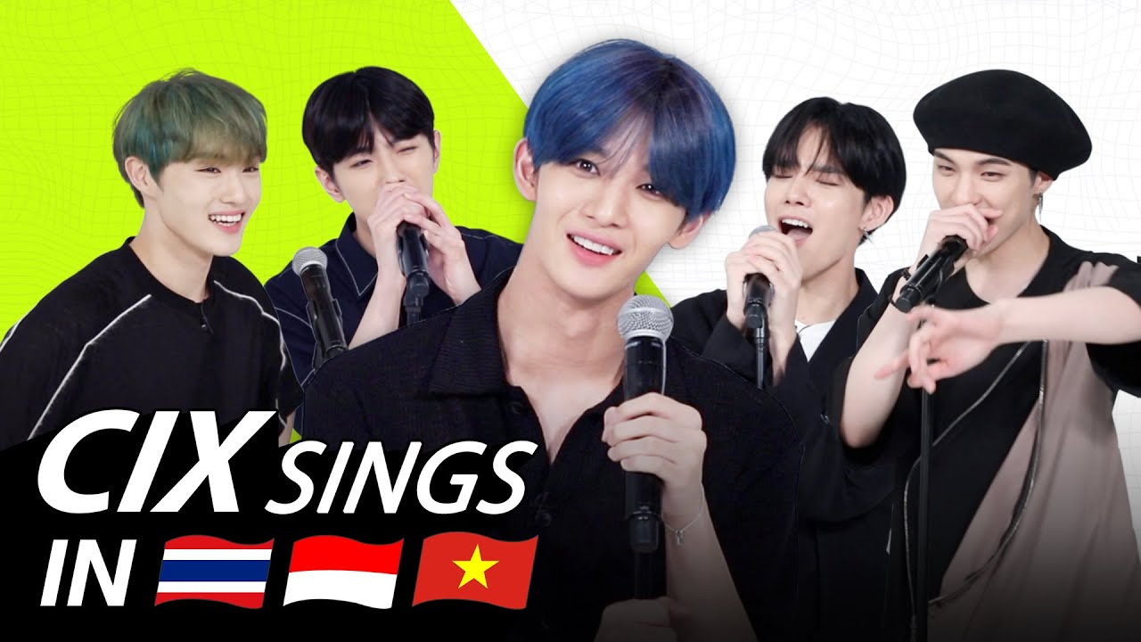 K-POP STARS sing in THREE Languages🎤| INA/THAI/VIET| CIX | TRANSONGLATION