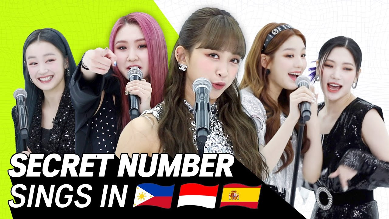 K-POP STARS sing in THREE Languages🎤| SPN/INA/TAG| SECRET NUMBER | TRANSONGLATION