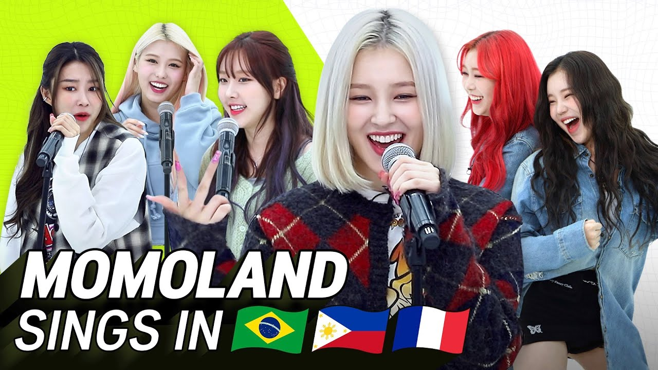 K-POP STARS sing in THREE Languages🎤| TAG/POR/FRE | MOMOLAND | TRANSONGLATION