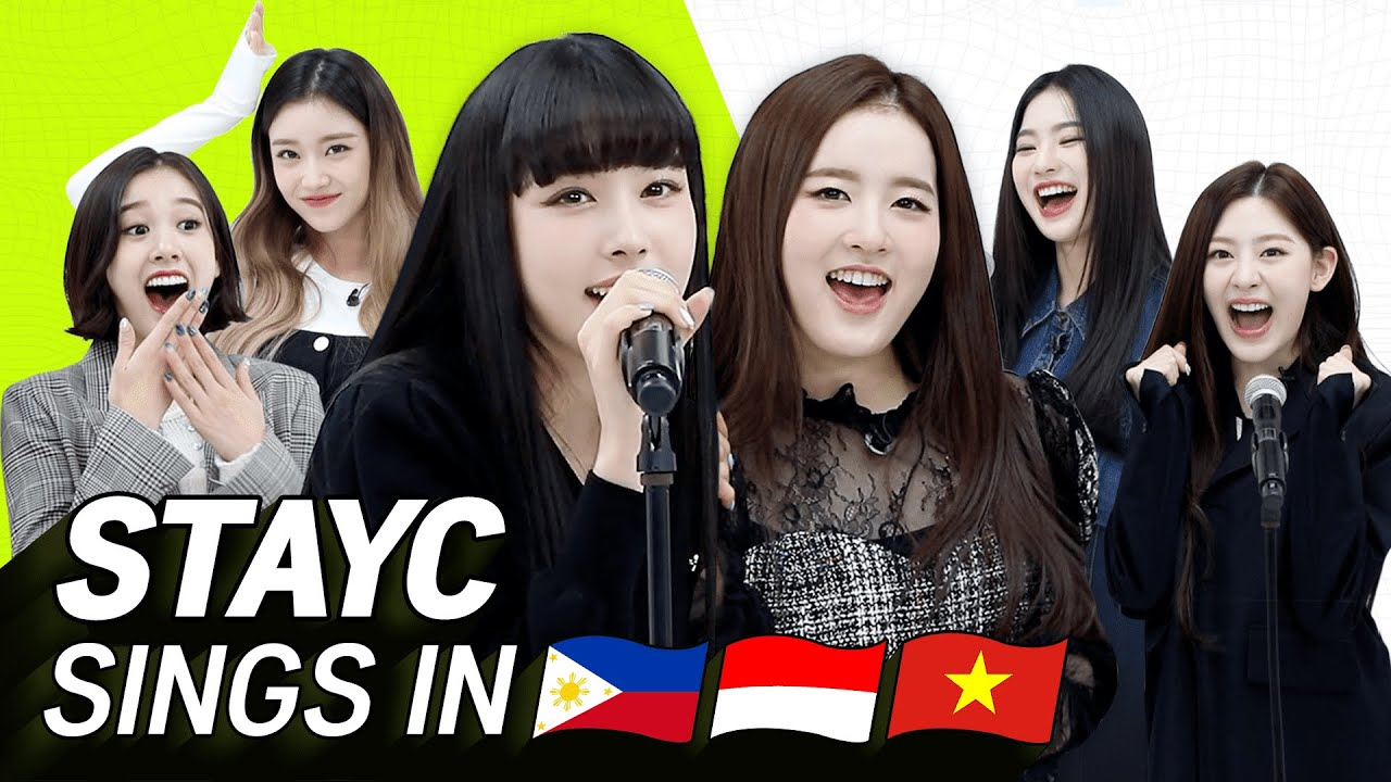 K-POP STARS sing in THREE Languages🎤| TAG/INA/VIET| STAYC | TRANSONGLATION