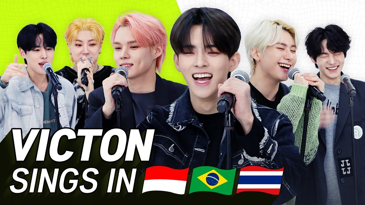 K-POP STARS sing in THREE Languages🎤| INA/POR/THAI | VICTON | TRANSONGLATION