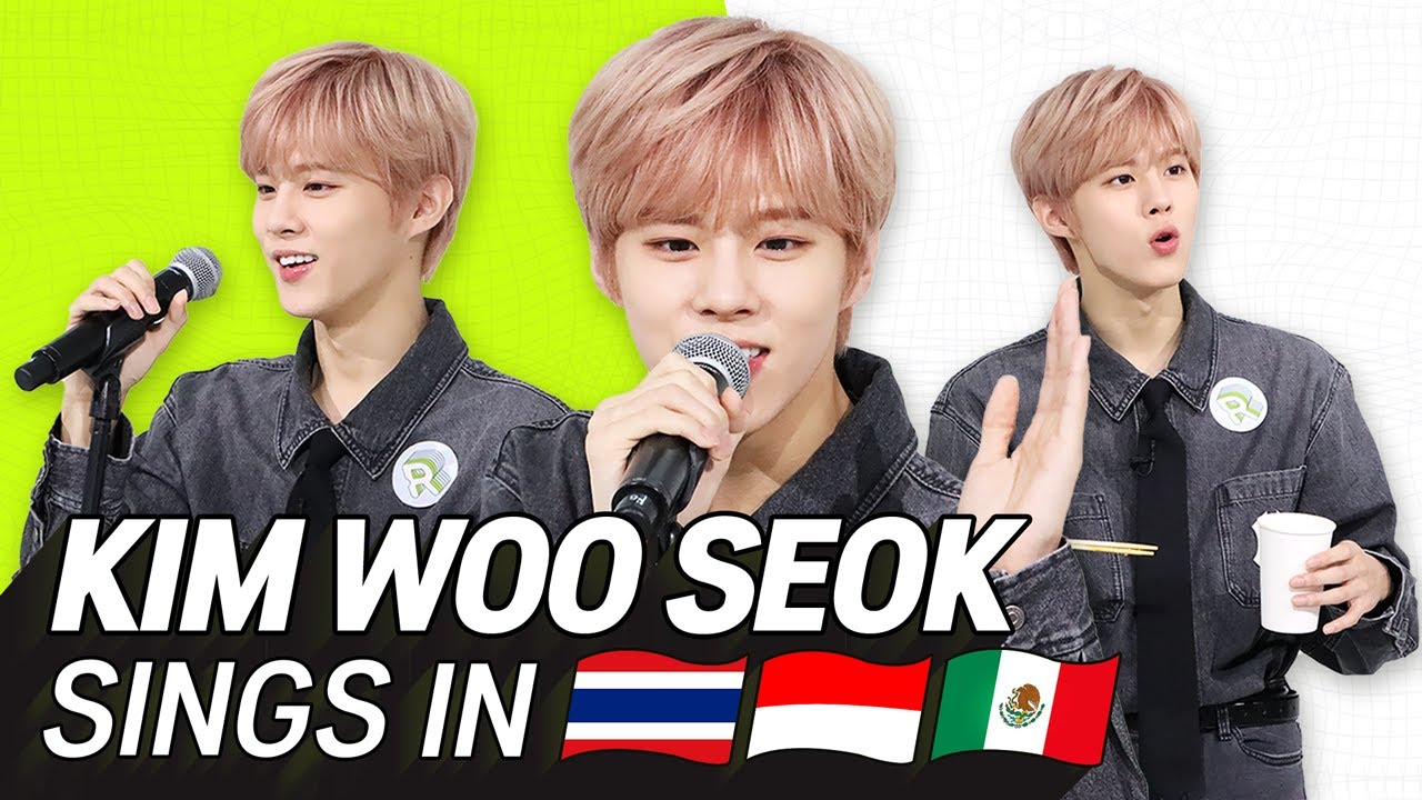 K-POP STARS sing in THREE Languages🎤| INA/THAI/SPN | KIM WOO SEOK | TRANSONGLATION