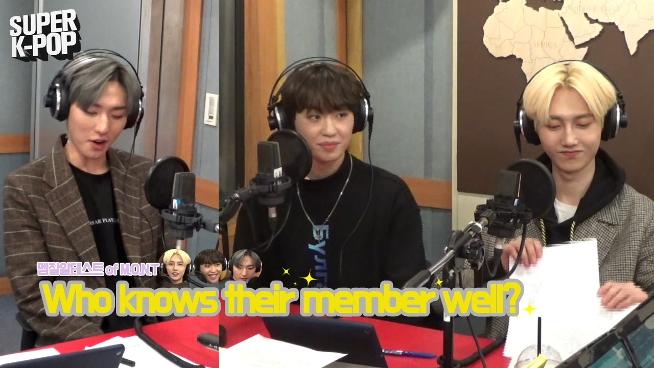 [Super K-Pop] 몬트 (M.O.N.T)'s Episode on Arirang Radio! : Who knows their member well?