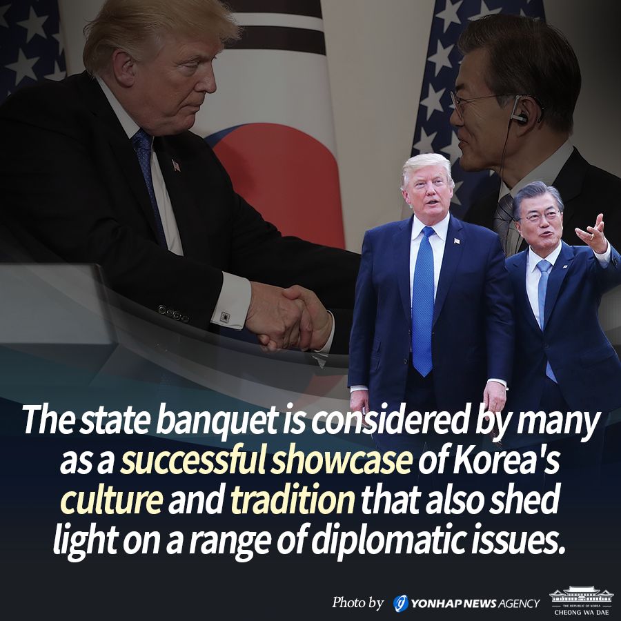 U.S. President Trump's State Dinner in S. Korea