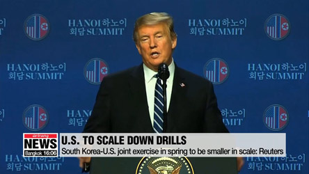 U.S. to scale down annual military drills with S. Korea : Reuters, NBC
