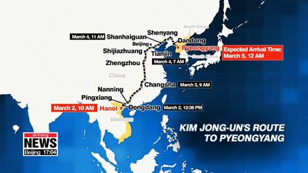 N. Korean leader heading directly to Pyeongyang without Beijing stop-over
