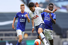 Son Heung-min's goal for Tottenham later changed to own goal, but his team win 3-0 against Leicester City