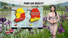 Poor air quality due to yellow dust...nationwide showers tomorrow