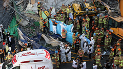 Nine people killed, eight severely injured in Gwangju building collapse accident