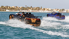 Three Egyptians create car-like speed boats that can drive on water