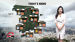 Have an umbrella handy for passing rain in inland regions