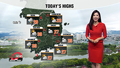 Stormy passing rain in inland regions during day