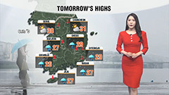 Heavy showers across the South...nationwide monsoon rain from Wednesday