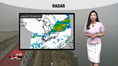 Heavy monsoon rain first half of day, then passing showers in afternoon