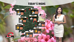 Hot and humid with heavy passing rain this afternoon