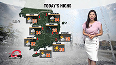 Sizzling heat wave with a chance of passing rain