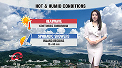 Scorching heat to continue for daytime...locally heavy downpours in eastern regions