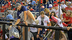 Washington Nationals game suspended and fans flee due to sound of gunfire