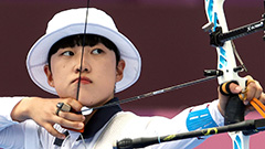 An San accomplishes Olympic archery triple crown, claiming women's individual title