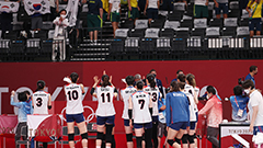 S. Korean women's volleyball team to compete against Serbia for bronze medal on Sunday
