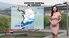 Heavy rain for Jeju and south coast, passing rain for inland regions
