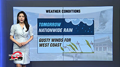 Nationwide rain tomorrow... strong winds to batter west coastal areas