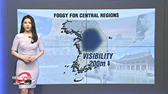 Clear skies and wide temperature gaps... layers of fog across central regions