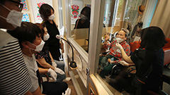 Nursing home residents meet relatives face-to-face ahead of Chuseok holidays